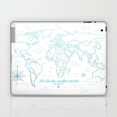 Where We've Been, World, Icy Blue Laptop & iPad Skin
