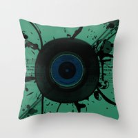 Vintage Vinyl Throw Pillow