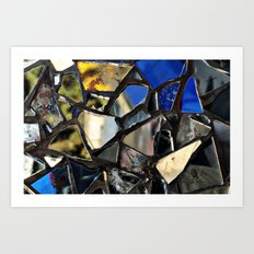 Closeup (PHOTO) of a Glass Mosaic Art Print