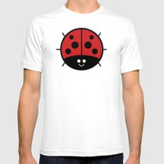 Cutesy Crawlies — Ladybird Mens Fitted Tee White SMALL