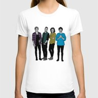 One Direction: Four Womens Fitted Tee White SMALL