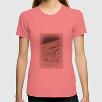 Yosemite Half Dome Hikers Womens Fitted Tee Pomegranate SMALL