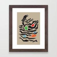 Screw Plastic! Framed Art Print