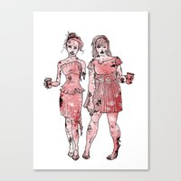 Zombie Bridesmaids Canvas Print
