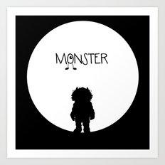 Monster Happy Art Print