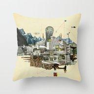 Collage City Mix 7 Throw Pillow