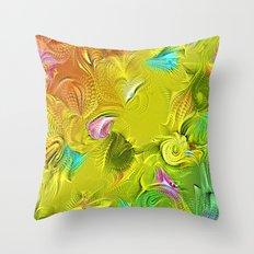 modern summer Throw Pillow