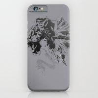 Snow Leopard (Grey) iPhone 6 Slim Case