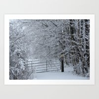 Winter Gate Art Print