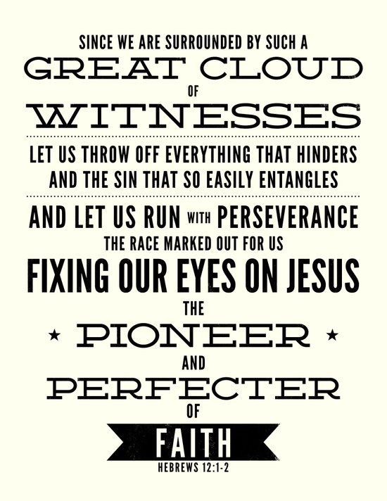 Pioneer and Perfecter of Faith Art Print