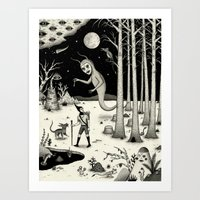 It Followed Him Out of the Woods Art Print