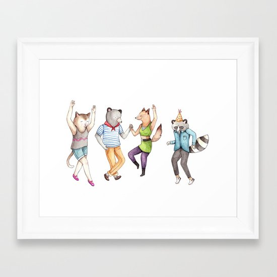 Party Animals Framed Art Print