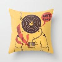 The Vinyl Frontier (alternate) Throw Pillow