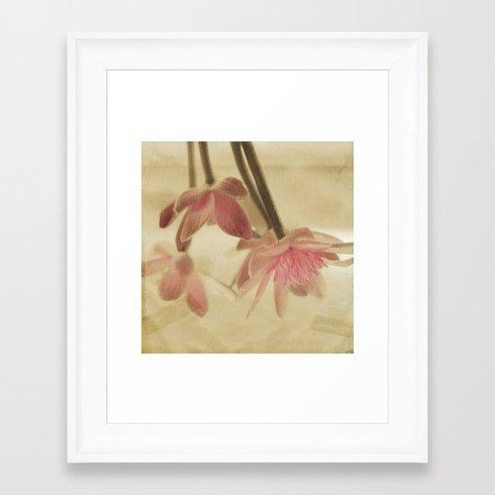Soft Yet Strong Framed Art Print