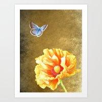 Illuminated garden Art Print