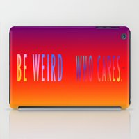 WHO CARES iPad Case