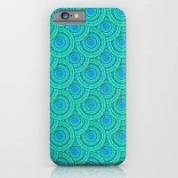 Teal Parasols Pattern iPhone 6 Slim Case