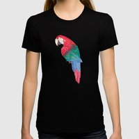 Parrot Beach Womens Fitted Tee Black SMALL