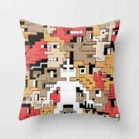 Byte Little Throw Pillow