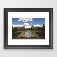 Mannheim Augustaanlage Framed Art Print