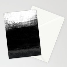 Ocean No. 2 - Minimal ocean abstract painting in black and white Stationery Cards