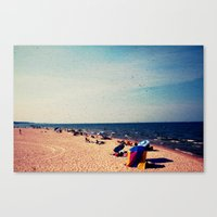 Lake Michigan Beach Scene Canvas Print
