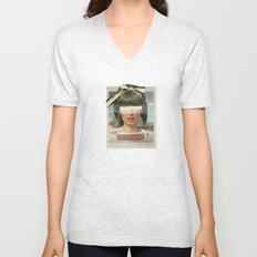 Tears In The Typing Pool | Collage Unisex V-Neck
