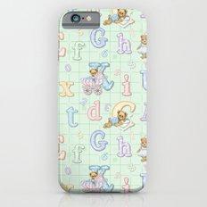 Teddy Bear Alphabet ABC's Green iPhone 6 Slim Case