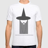 Gandalf Minimalist Mens Fitted Tee Ash Grey SMALL