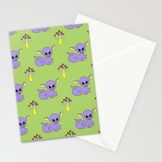 Psychedelic Woodland Lilac Deer Stationery Cards