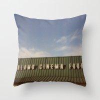 Alamo Drafthouse Village Throw Pillow