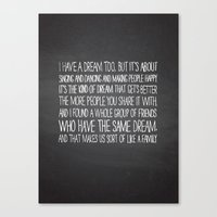 I Have A Dream Too Canvas Print