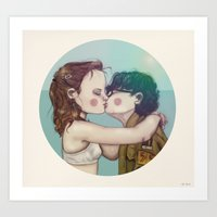 moonrise kingdom Art Prints featuring Moonrise Kingdom by Maripili