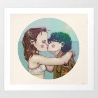moonrise kingdom Art Prints featuring Moonrise Kingdom by Maripili