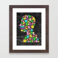 Mosaic Silhouette Framed Art Print