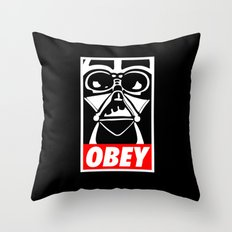 Obey Darth Vader - Star Wars Throw Pillow
