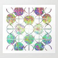 Refraction Tiles Art Print