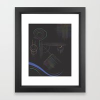 Dream Diagram Framed Art Print