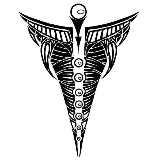 tribal back tat Canvas Print
