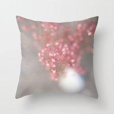 pink coral bells Throw Pillow