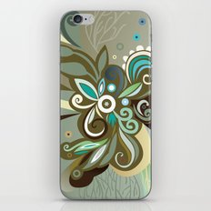 Floral curves of Joy, olive iPhone & iPod Skin