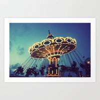 Blue Hour At The Carniva… Art Print