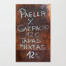 TAPAS Canvas Print