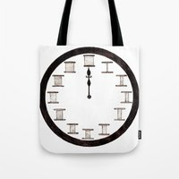 Cotton Reel Clock Tote Bag