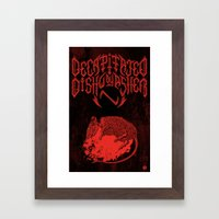 Decapitated By Dishwashe… Framed Art Print