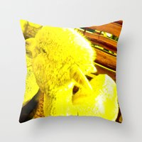 Amarillo Animal Throw Pillow