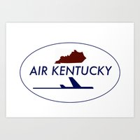 Air Kentucky Art Print