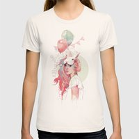 Sweet Party Womens Fitted Tee Natural SMALL