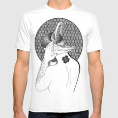 Rubén Rodriguez  SMALL White Mens Fitted Tee