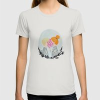 Two Sweethearts Womens Fitted Tee Silver SMALL